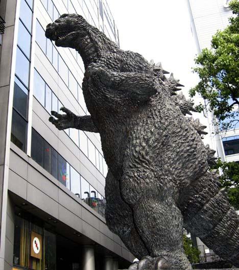 Godzilla cruises the streets of Tokyo looking to cause mayhem Spud Battles