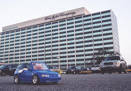 Spud travels to the motor city for Ford motors corporate office