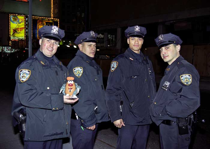 Spud runs into a spot of trouble with New York's finest